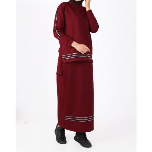 Claret red suit