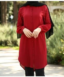 Claret red tunic