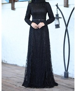 Dilem black evening dress