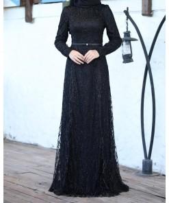 Dilem black evening dress