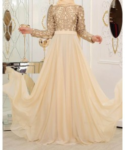 Ecrin gold evening dress