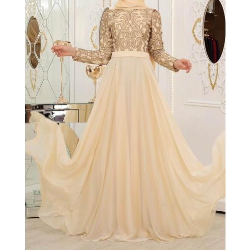 Ecrin gold evening dress