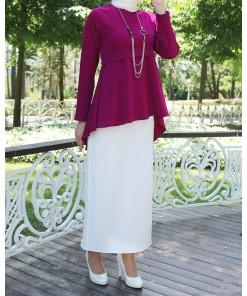 Fuchsia blouse & skirt