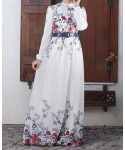 Gülru flower patterned dress