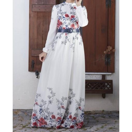 Gülru flower patterned dress