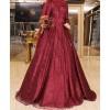 Setre claret red evening dress