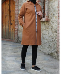 Tan colour tunic coat