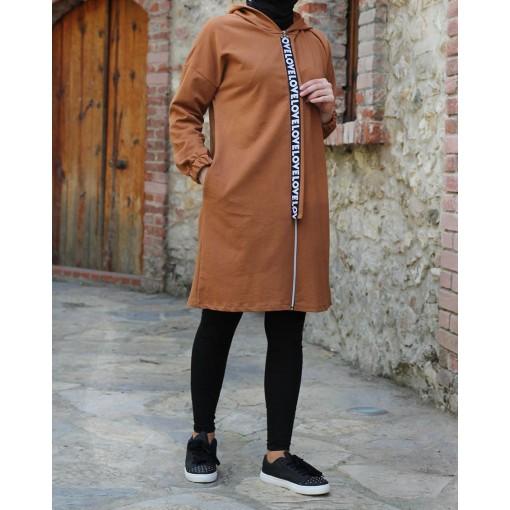 Tan colour tunic coat