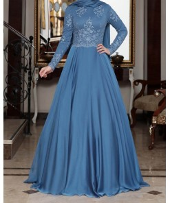 Tilsim Blue Evening Dress