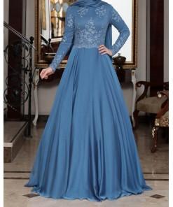 Tilsim Blue Evening Dress