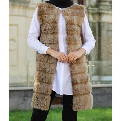 Vision colour Furry vest