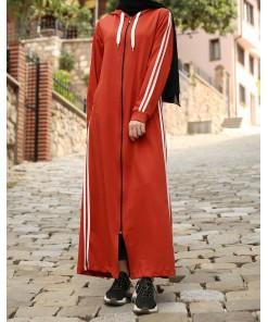 Zipped bricked sport coat