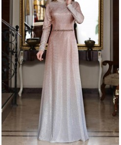Zuhl coppertone evening dress