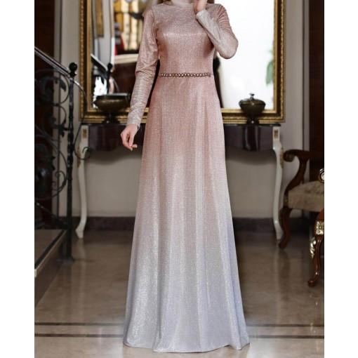 Zuhl coppertone evening dress