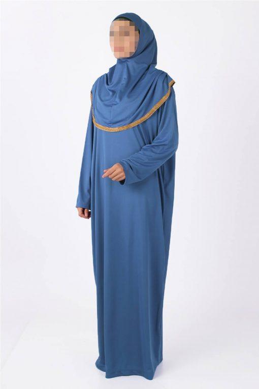 Indigo abaya