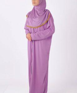 Lila zipped abaya