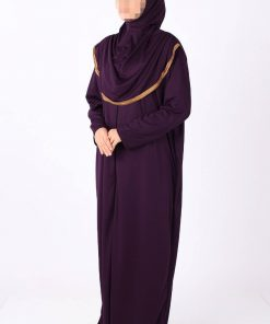 Purple zipped abaya