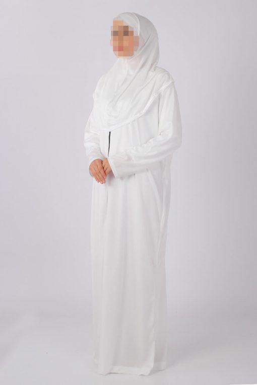 White zipped abaya