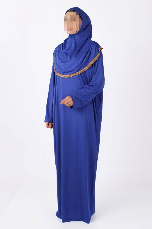 bright Indigo blue abaya