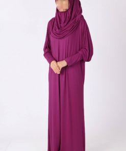 bright pink abaya