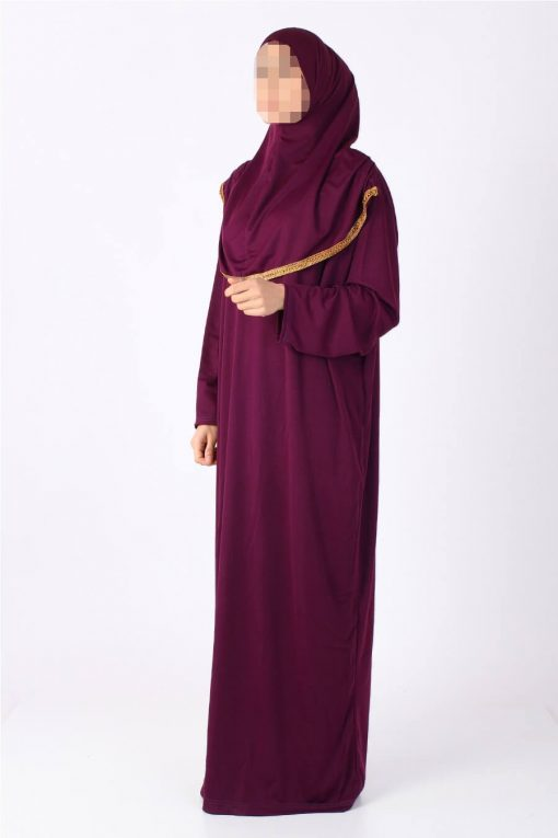 bright purple abaya