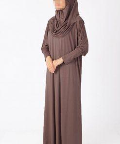brown Shiny abaya