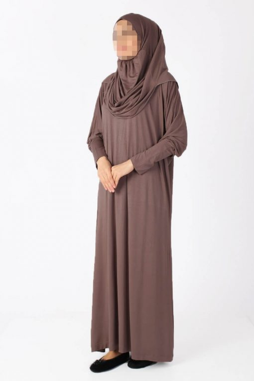 brown Shiny abaya