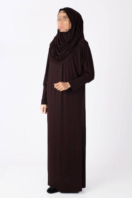 dark brown abaya