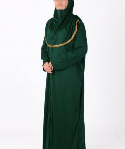 dark green zipped abaya