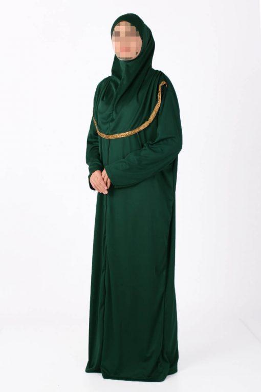 dark green zipped abaya