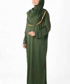 khaki abaya
