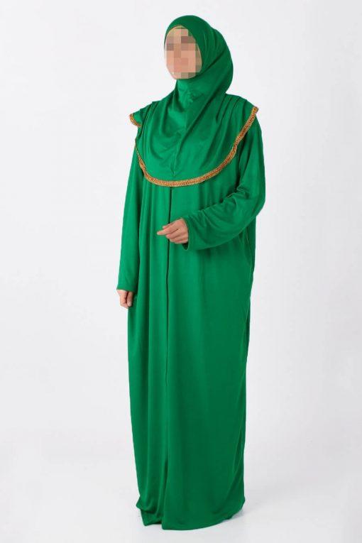 light bright green abaya