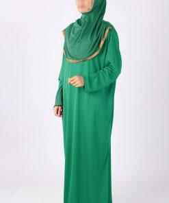light green abaya