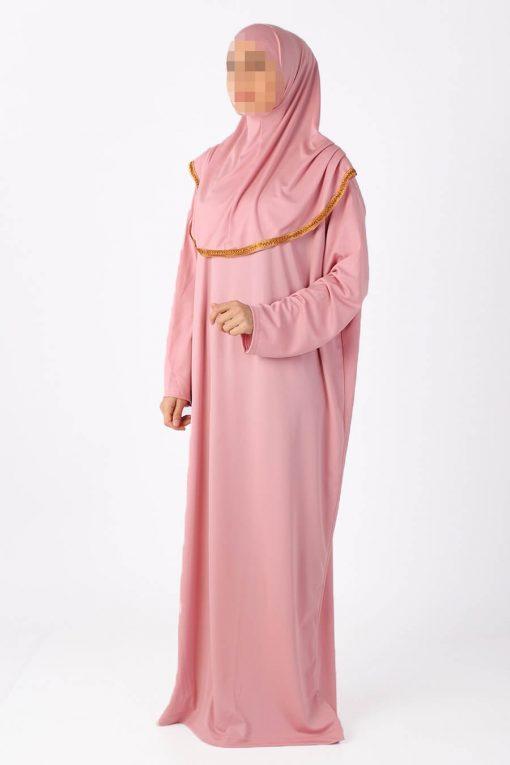powder pink abaya