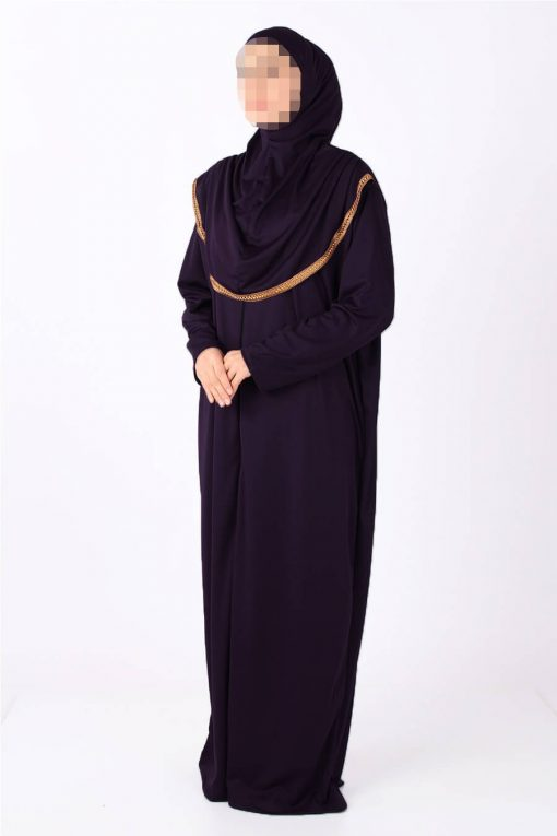 zipped purple abaya