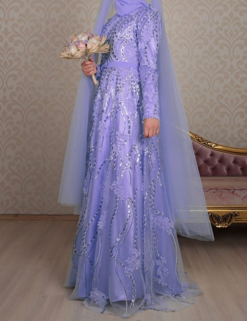 LILA-evening dress