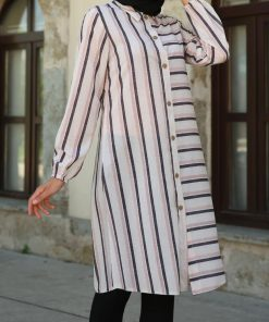 anthracite striped top