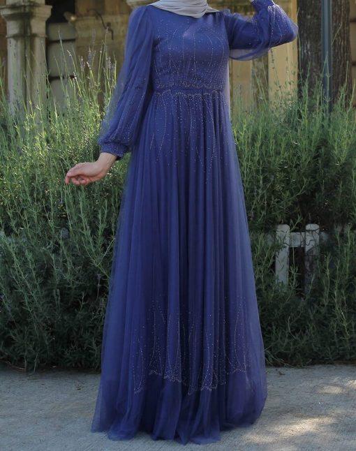 beaded saxblue evening_dress