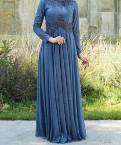 blue indigo evening_dress