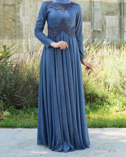 blue indigo evening_dress