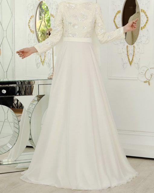 ecru_evening dress