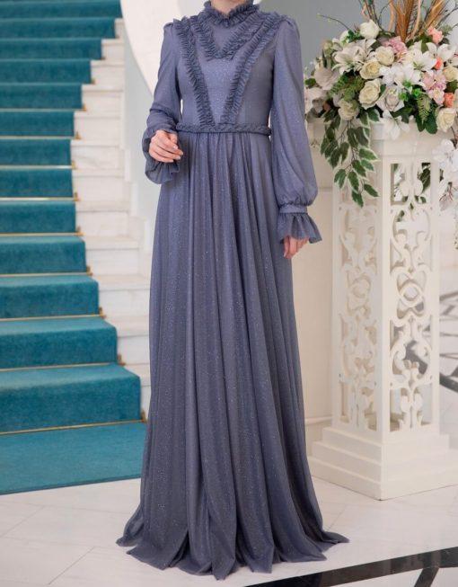 indigo_color_evening_dress