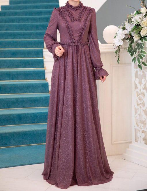rose_color_evening_dress