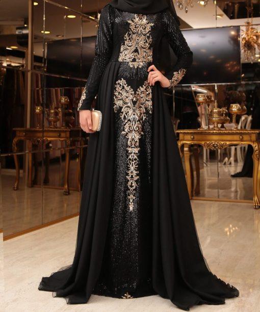 designer black abaya