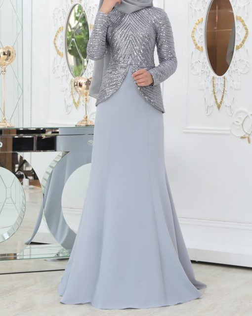 designer grey dress