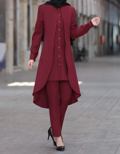 claret_red_tunic_and_pant_suit_