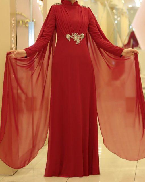 exclusive claret red abaya