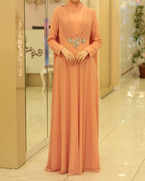 exclusive peach abaya