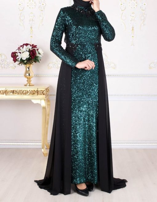 Green sequin detailed
