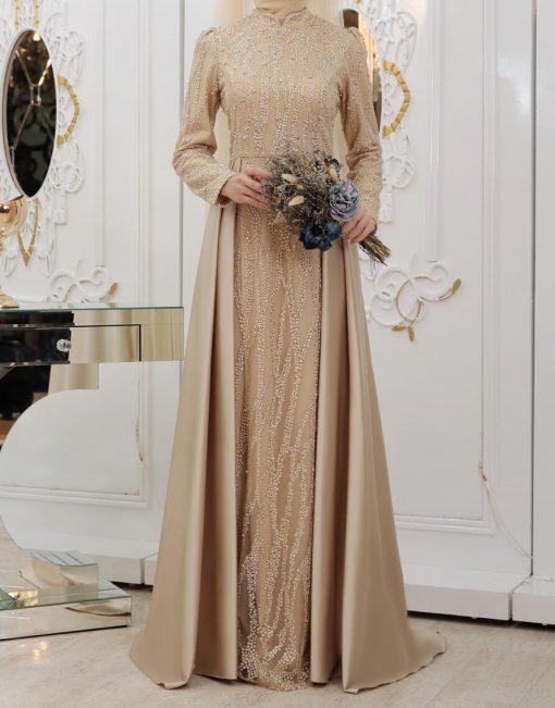 gold designer dress